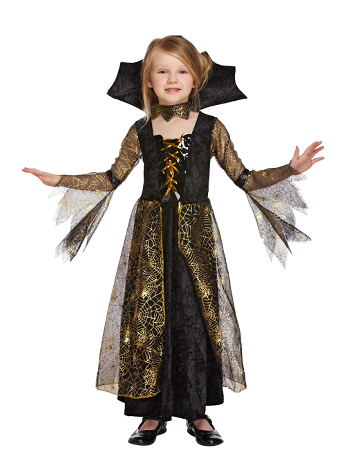 Girls V&ire Costume Spiderella V&iress Fancy Dress Outfit Halloween Party. Image 2  sc 1 st  eBay & Girls Vampire Costume Spiderella Vampiress Fancy Dress Outfit ...