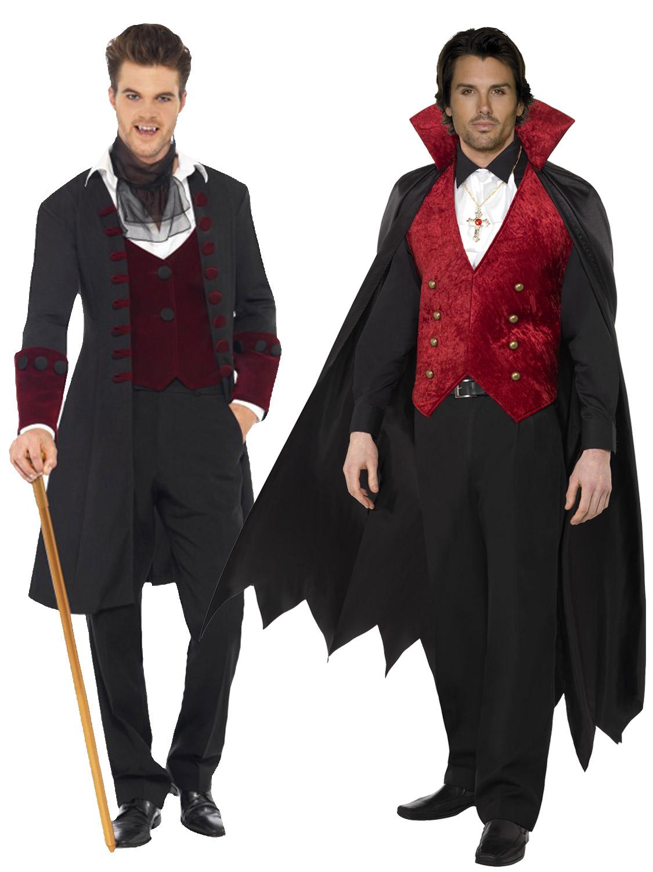 adult mens deluxe count dracula vampire costume halloween fancy dress gothic ebay. Black Bedroom Furniture Sets. Home Design Ideas