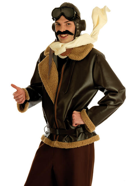 Men's War Time Fighter Pilot Costume