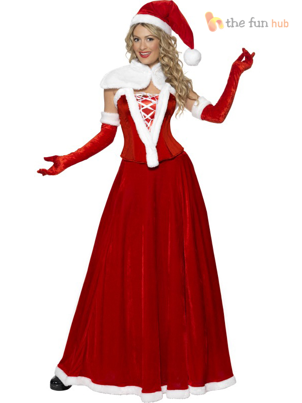 ... Picture 2 of 2  sc 1 st  eBay & Luxury Miss Santa Christmas Adult Womens Smiffys Fancy Dress Costume ...