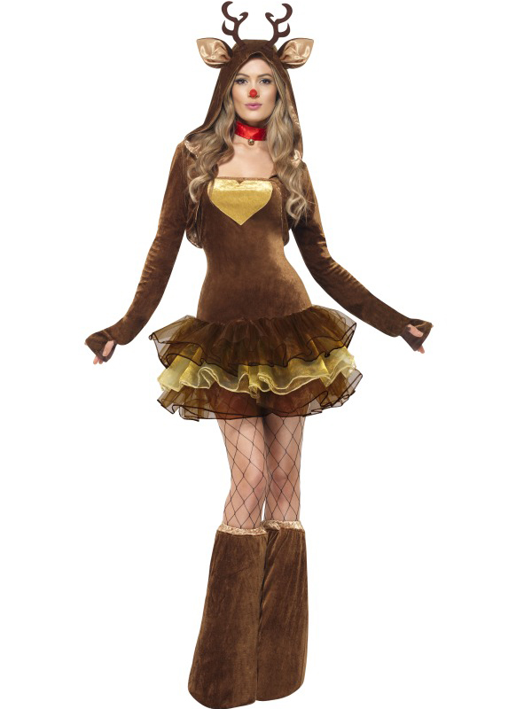 Ladies Fever Reindeer Costume