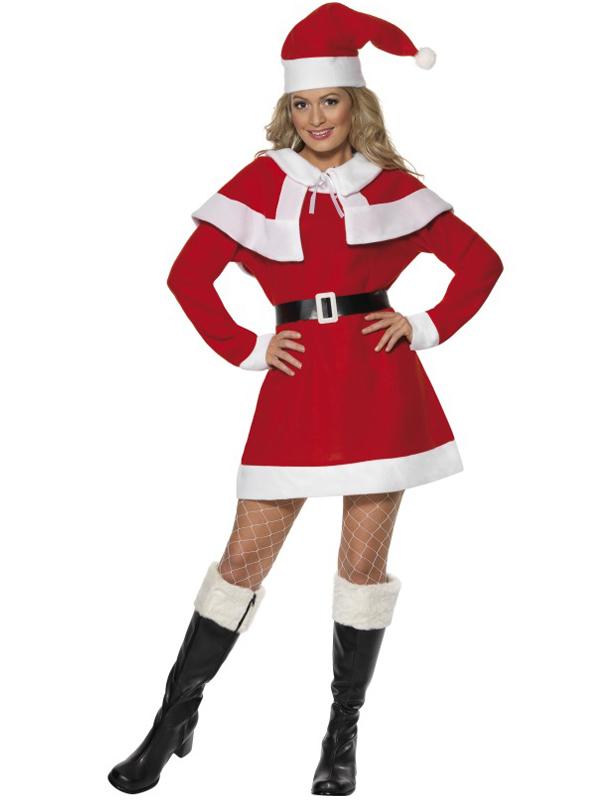 Ladies Miss Santa Fleece Costume