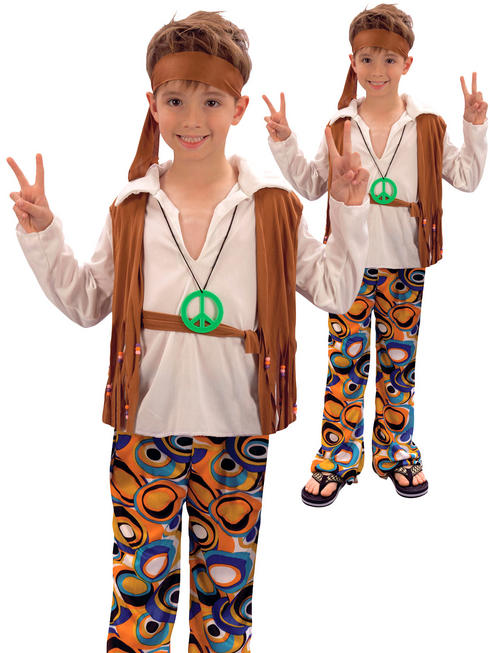 Boys 1970s Hippy Costume
