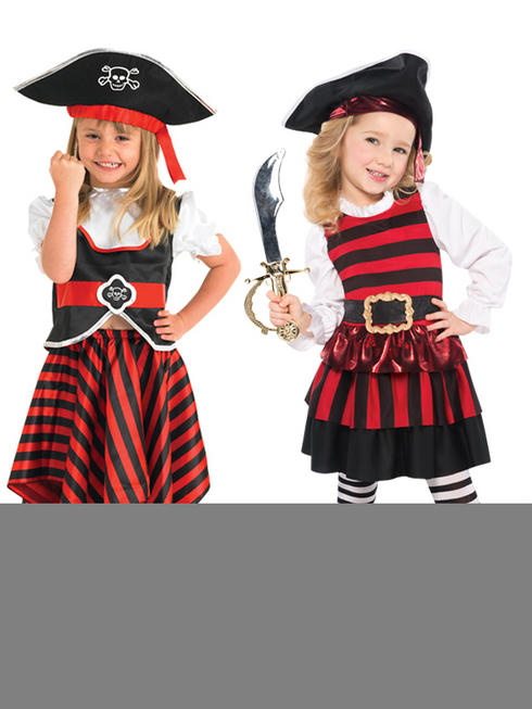 Toddler Little Lass Pirate Costume