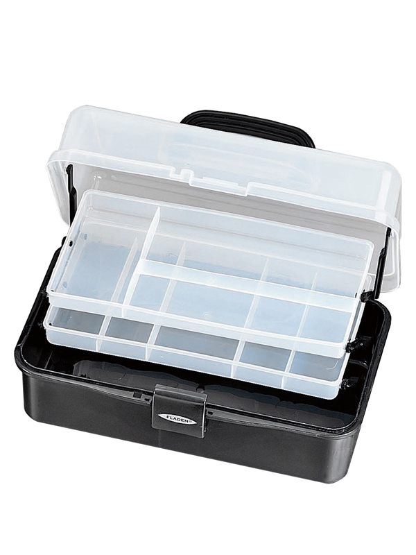 Fladen Fishing Black Medium Cantilever Tackle Box