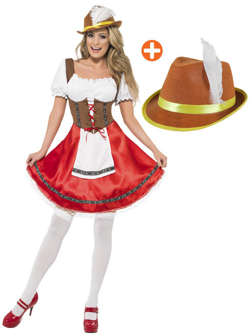 Ladies Bavarian Costume with Hat
