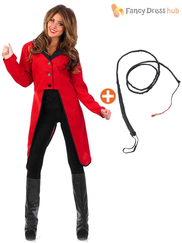 Ladies-Ringmaster-Fancy-Dress-Costume-Circus-Ring-Master-  sc 1 st  eBay & Ladies Ringmaster Fancy Dress Costume Circus Ring Master Coat Plus ...