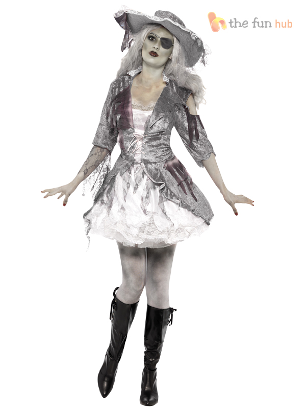 Ladies zombie pirate costume ghost ship womens halloween fancy ladies zombie pirate costume ghost ship womens halloween solutioingenieria Gallery