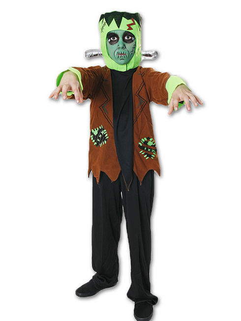 Boy's Frankenstein Costume & Glow in the Dark Skeleton