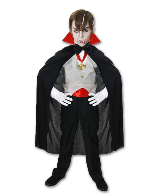 Boy's Vampire Costume & Glow in the Dark Skeleton