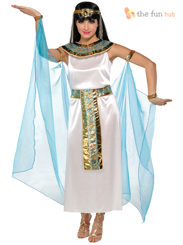 Adult-Cleopatra-Costume-Egyptian-Queen-Greek-Goddess-Fancy-Dress-Ladies-Womens thumbnail 7
