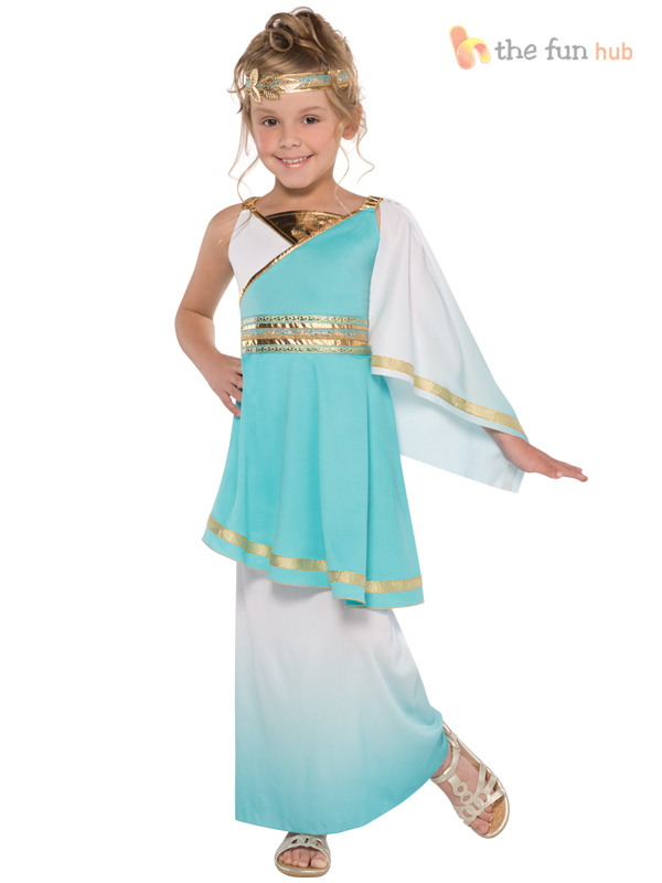 Girls-Venus-Goddess-Costume-Teen-Roman-Toga-Greek-  sc 1 st  eBay & Girls Venus Goddess Costume Teen Roman Toga Greek Child Fancy Dress ...