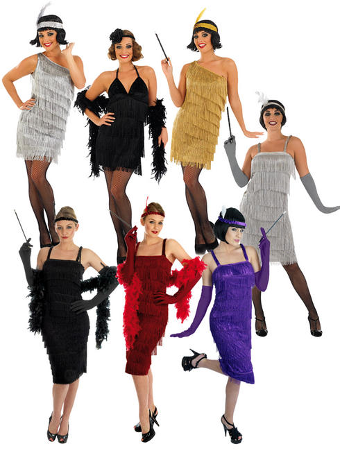 Ladies Sexy Black Flapper Costume
