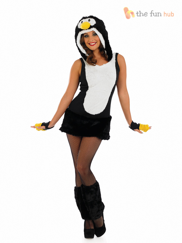 Ladies penguin costume christmas winter party fancy dress animal ladies penguin costume christmas winter party fancy dress solutioingenieria Choice Image