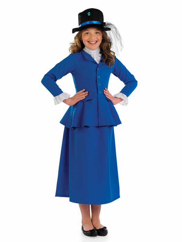 Girlu0027s Victorian Mary Poppins Costume  sc 1 st  Fancy Dress Hub & Girlu0027s Victorian Mary Poppins Costume | All Children | Fancy Dress Hub