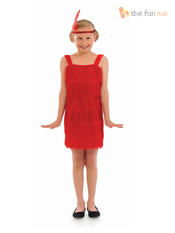 Girls-Flapper-Costume-Headband-1920s-Charleston-Fancy-Dress-Kids-Bugsy-Malone