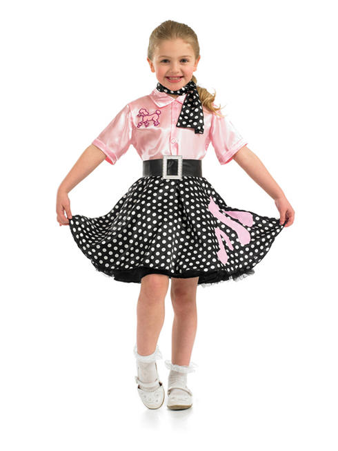 Girl's 1950s Rock n Roll Costume