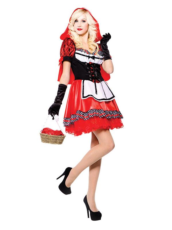 LITTLE RED RIDING HOOD Disney Fairytale Fancy Dress Costume UK 8-14