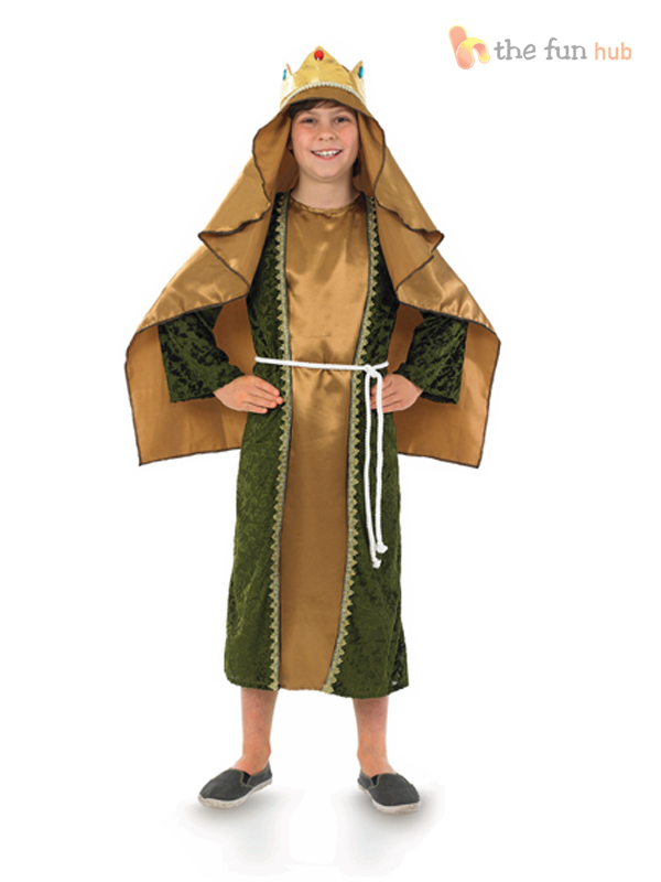 Boys-King-Costume-Three-Wise-Men-Man-Fancy-  sc 1 st  eBay & Boys King Costume Three Wise Men Man Fancy Dress Christmas Nativity ...