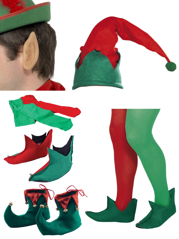Adult Christmas Elf Fancy Dress Santas Little Helper -3925