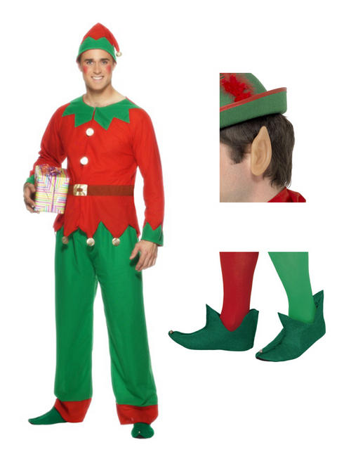 Men's Complete Elf Costume