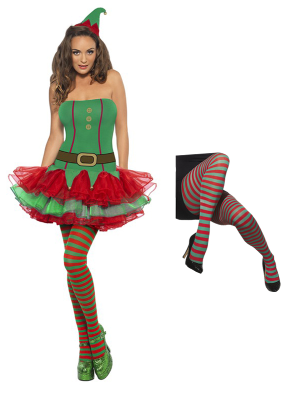 Ladies Elf Tutu with Tights