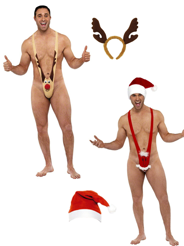 Men's Santa Mankini  & Hat