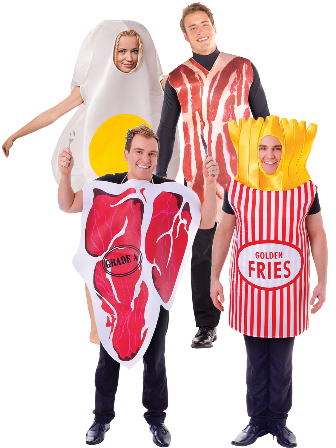 Adult Egg and Bacon Funny Fancy Dress Food Novelty Couples Humour ...