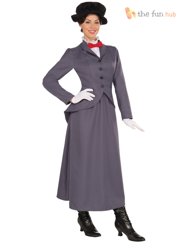 Ladies Mens Mary Nanny Chimney Sweep Bert Fancy Dress Costume ...