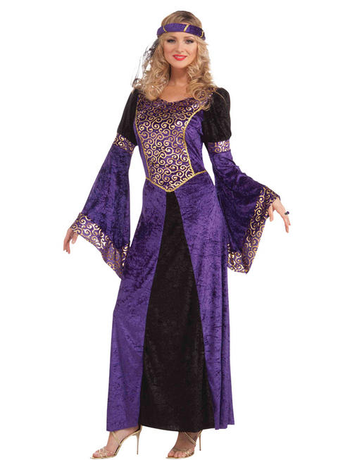 Ladies Purple Medieval Gown