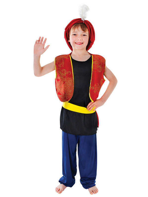 Image 2  sc 1 st  eBay & Boys Arabian Genie Aladdin Arab Costume Childrens Book Week Fancy ...