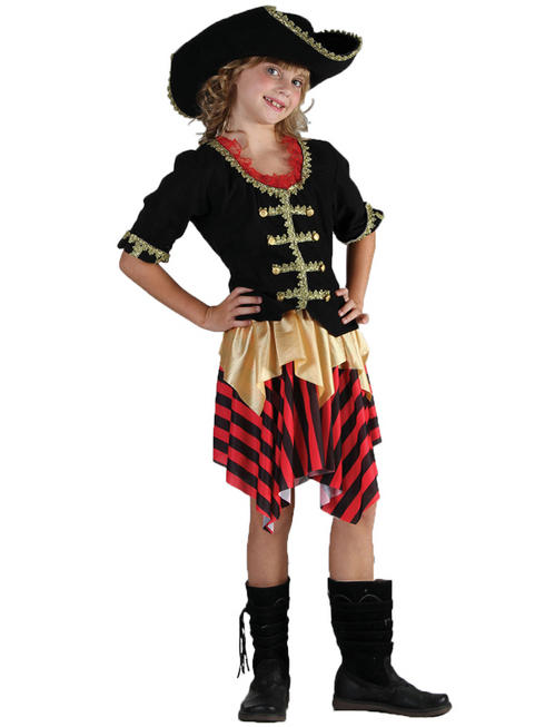 Girl's Buccaneer Pirate Costume
