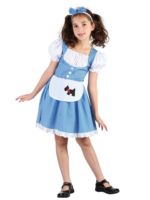 Country Girl Girls Fancy Dress Dorothy Fairy Tale World Book Day Kids Costume