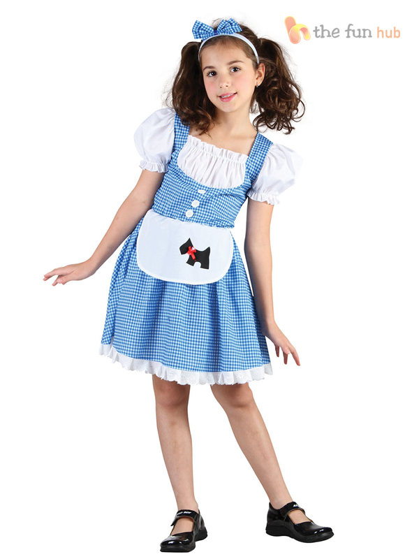 Girls-Dorothy-Costume-Childs-Fairytale-Book-Week-Fancy-  sc 1 st  eBay & Girls Dorothy Costume Childs Fairytale Book Week Fancy Dress Outfit ...