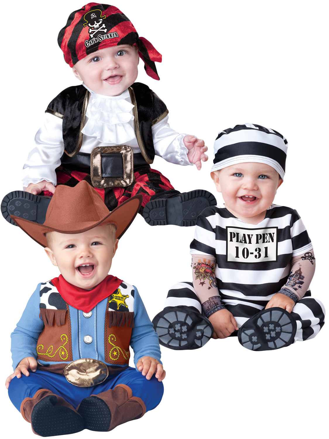 Image 2  sc 1 st  eBay & Boys Girls Baby Fancy Dress Up Pirate Prisoner Costume Infant 6 12 ...