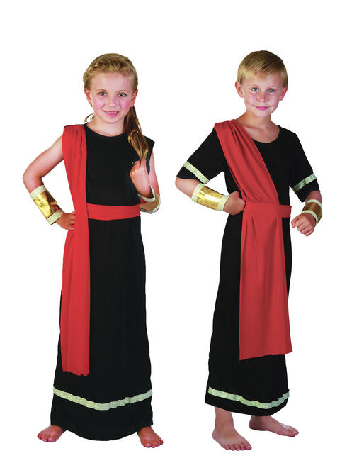 Boy's or Girl's Black Roman Caesar Emperor