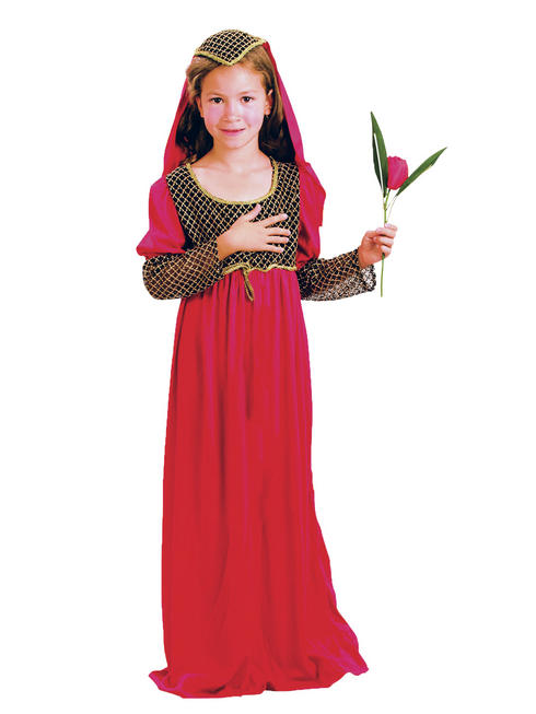 Girl's Juliet Medieval Princess Costume