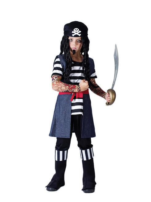 Boy's Tattoo Pirate Costume