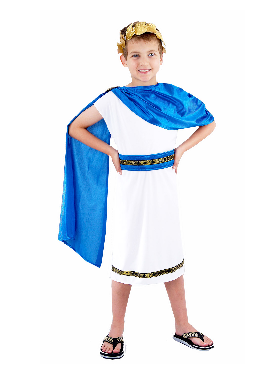 0419cac1b Details about Boys Roman Emperor King Toga Caesar Greek Childs Kids Fancy Dress  Costume Outfit