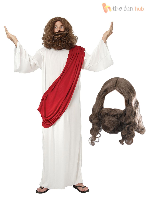 Jesus-Wig-Beard-Religious-Mens-Fancy-Dress-Christmas-Adult-Easter-Costume