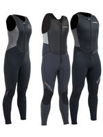 Gul Response 3mm Long John Long Jane Wetsuit Neoprene Front Zip Mens Ladies