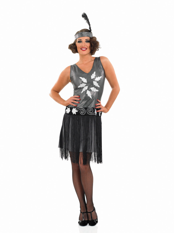 Womens 1920s flapper dress fancy dress costume adult flapper dress - 1920s Cocktail Dress Costume Ladies Flapper Fancy Dress Charleston Gatsby Outfit Image 2