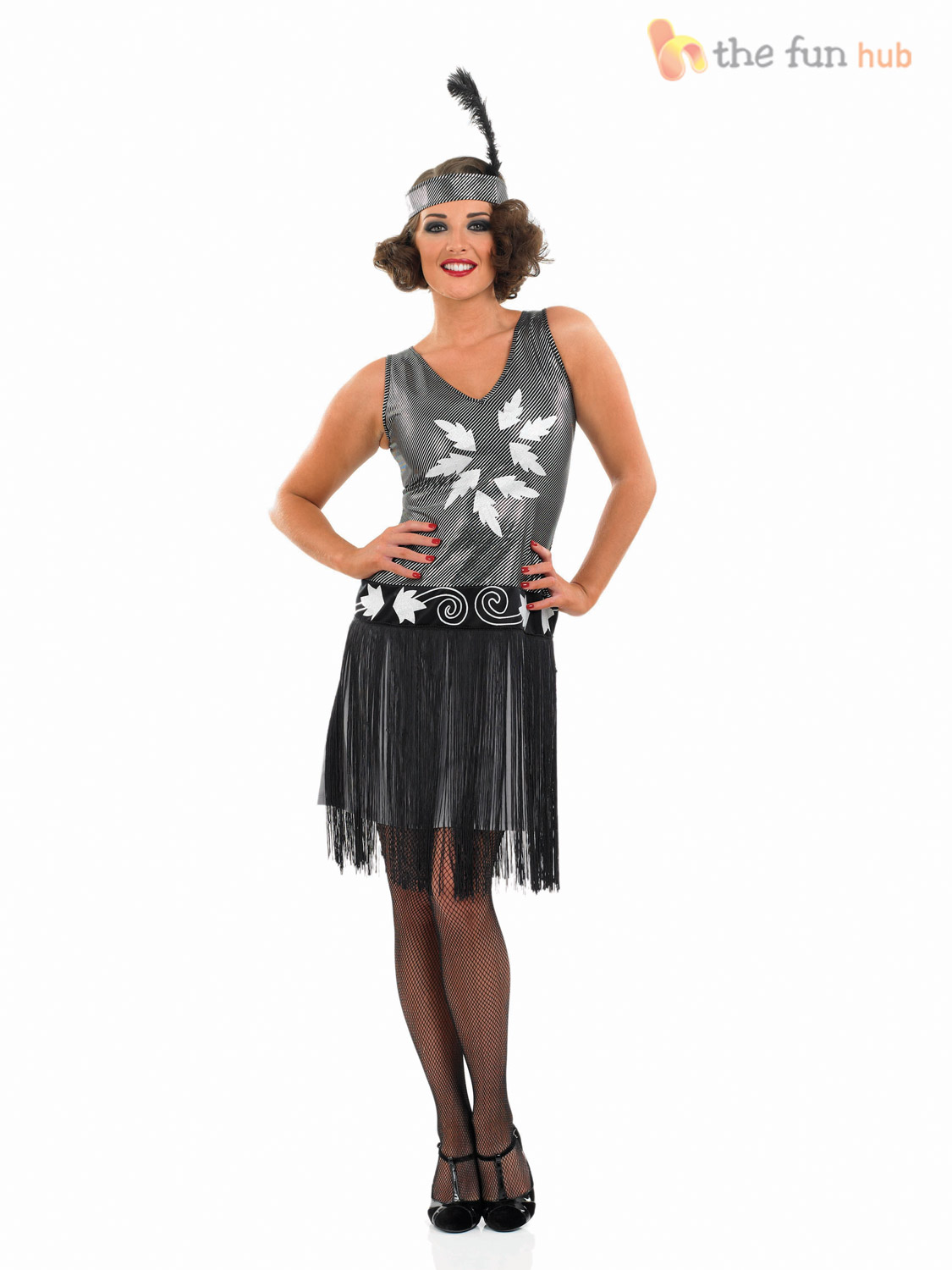 1920s Cocktail Dress Costume Ladies Flapper Fancy Dress Charleston ...