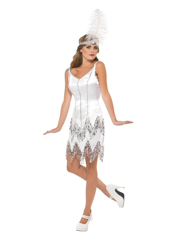 White flapper dress uk