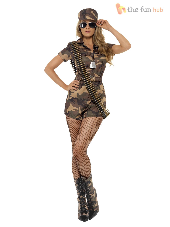 Afficher Le Costume Uniforme Mesdames Robe Titre Armée Fantaisie Sur Soldat Tenue D'origine Détails Militaire Camouflage Fille Femme thQrdCxs