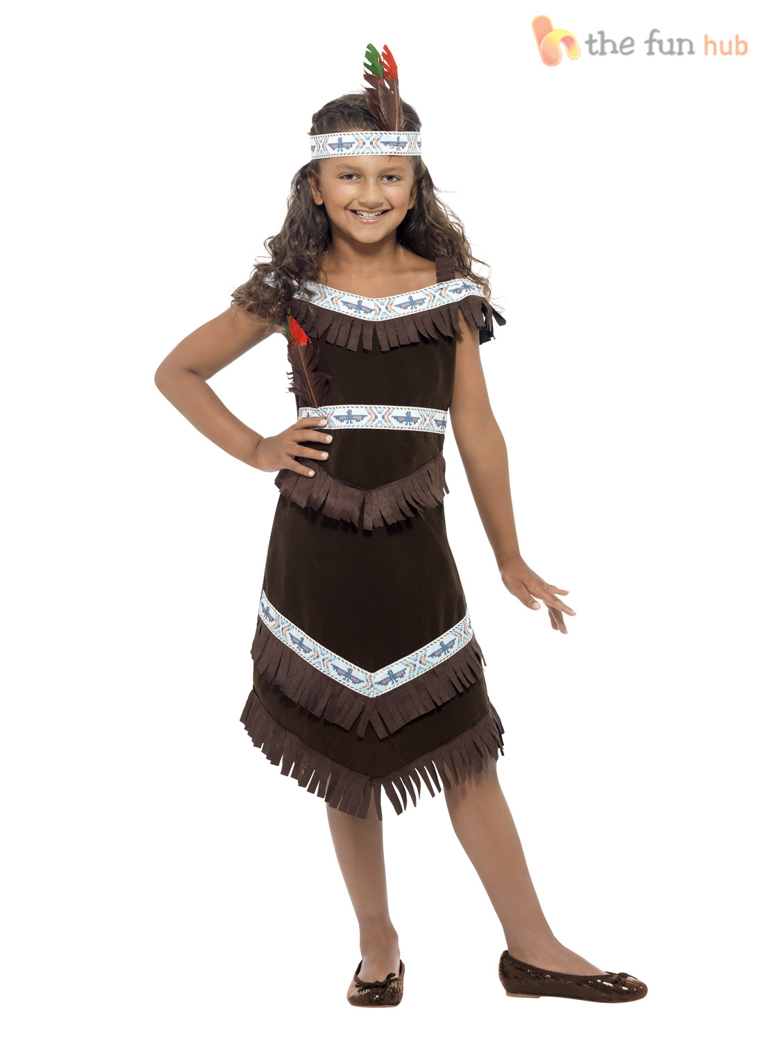 Girls-Native-Red-Indian-Fancy-Dress-Book-Week-  sc 1 st  eBay & Girls Native Red Indian Fancy Dress Book Week Costume Pocahontas ...