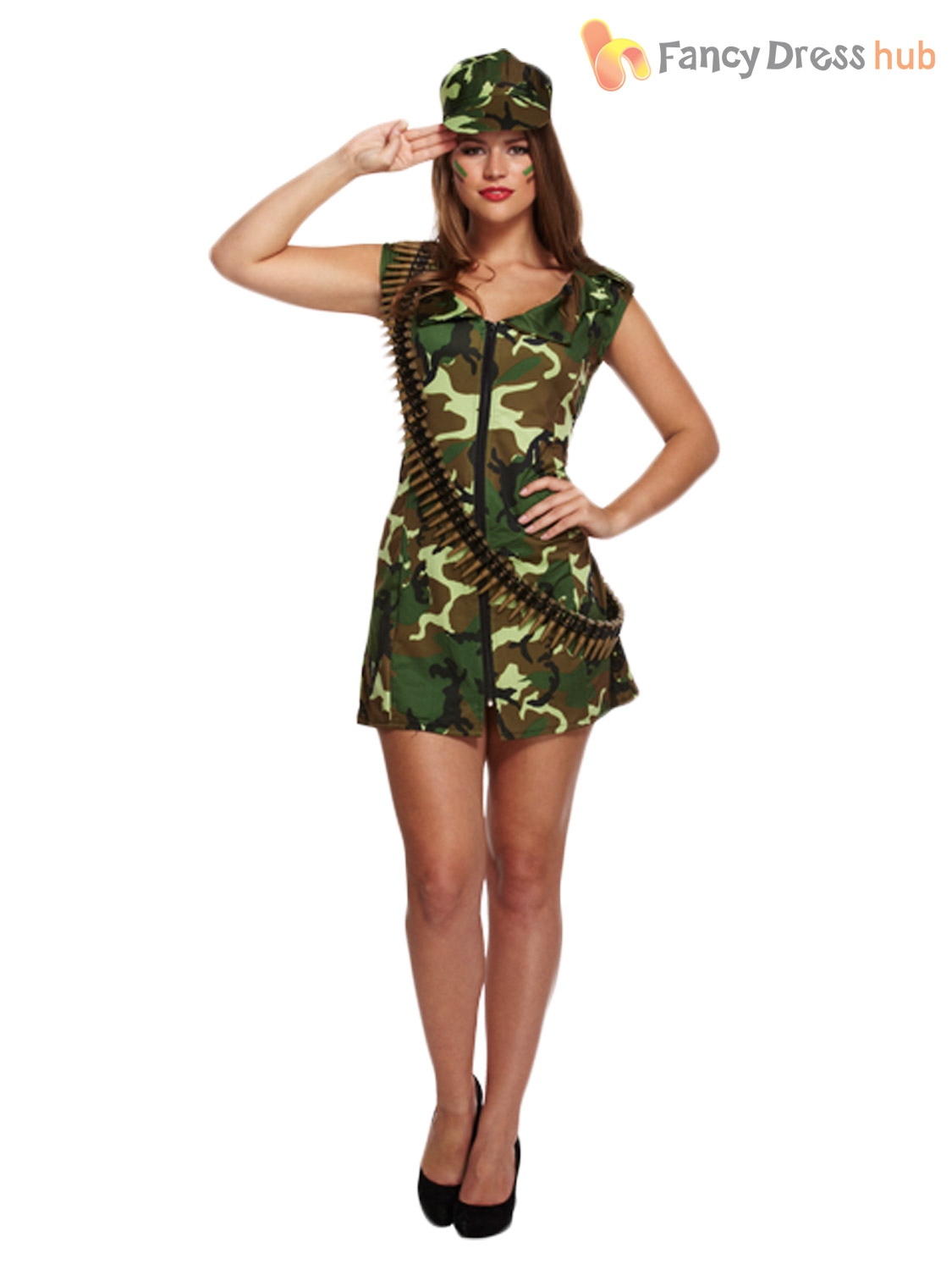 Ladies Army Fancy Dress Shoes