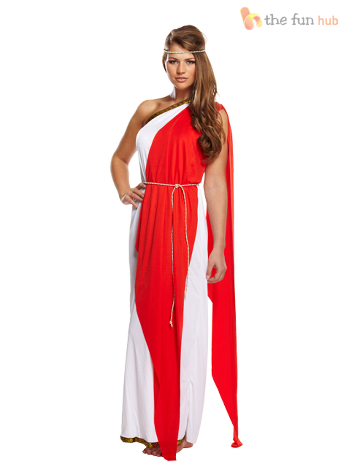 ladies greek roman grecian goddess toga fancy dress