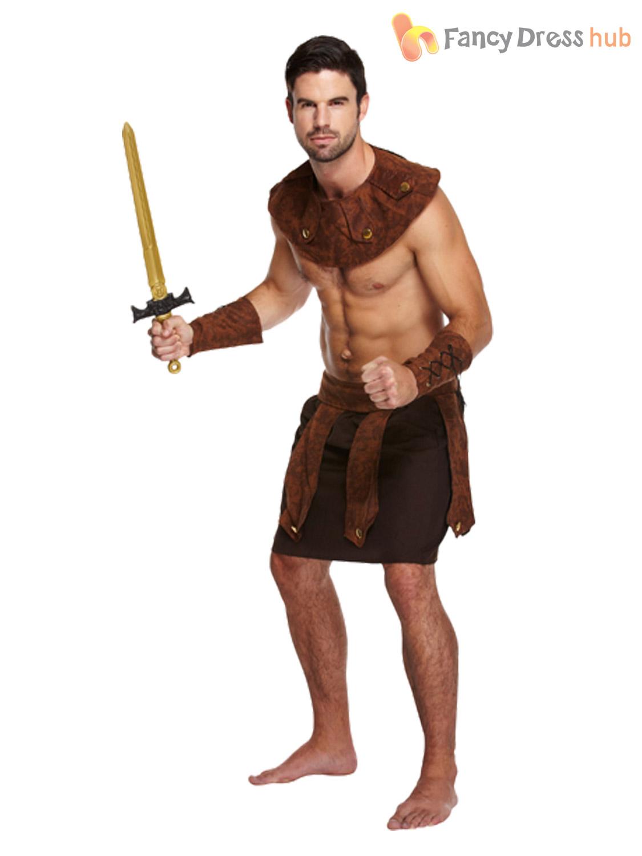 Adults-Mens-Roman-Greek-Gladiator-Warrior-King-Soldier-  sc 1 st  eBay & Adults Mens Roman Greek Gladiator Warrior King Soldier Fancy Dress ...