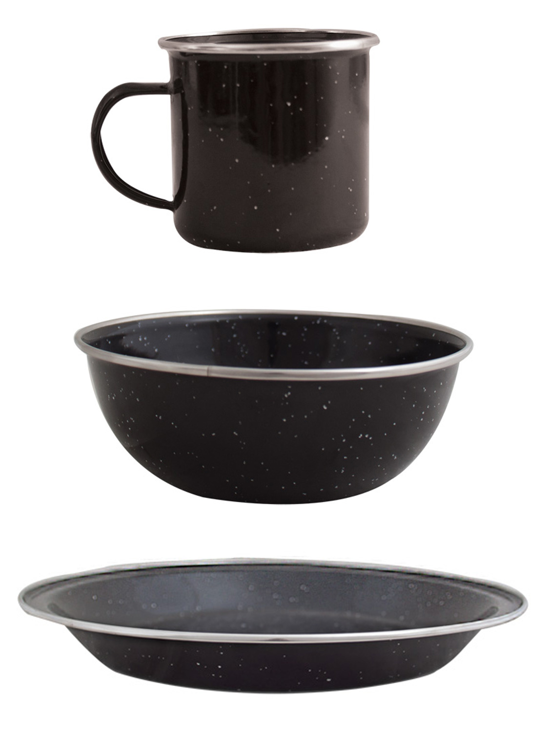 Enamel Mug Plate Bowl Set